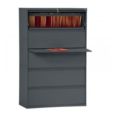 Sandusky 800 Series 5 Drawer Lateral File Charcoal Color