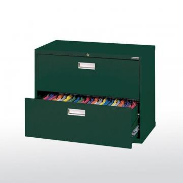 Sandusky 600 Series 2 Drawer Lateral File Forest Green Color