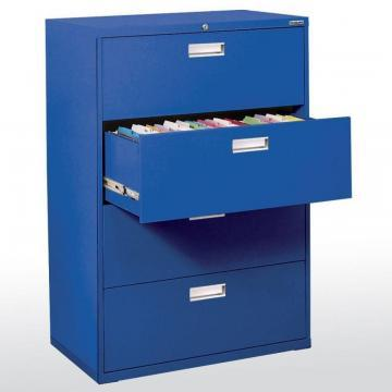 Sandusky 600 Series 4 Drawer Lateral File Blue Color