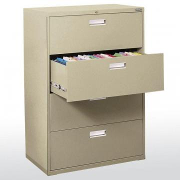 Sandusky 600 Series 4 Drawer Lateral File Putty Color