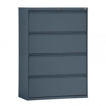 Sandusky 800 Series 4 Drawer Lateral File Charcoal Color