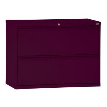 Sandusky 800 Series 2 Drawer Lateral File Burgundy Color