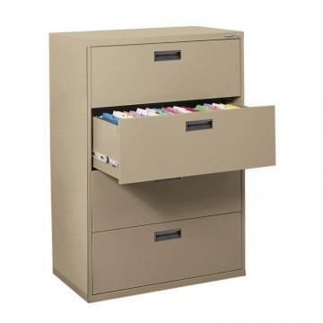 Sandusky 400 Series 4 Drawer Lateral File Tropic Sand Color