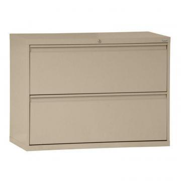 Sandusky 800 Series 2 Drawer Lateral File Tropic Sand Color