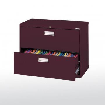 Sandusky 600 Series 2 Drawer Lateral File Burgundy Color