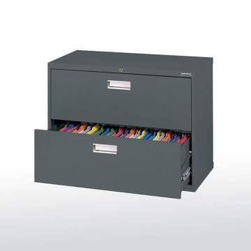 Sandusky 600 Series 2 Drawer Lateral File Charcoal Color