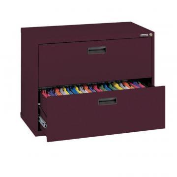 Sandusky 400 Series 2 Drawer Lateral File Burgundy Color