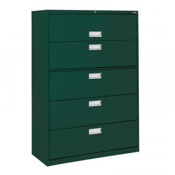 Sandusky 600 Series 5 Drawer Lateral File Forest Green Color