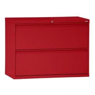 Sandusky 800 Series 2 Drawer Lateral File Red Color