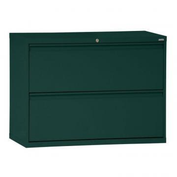 Sandusky 800 Series 2 Drawer Lateral File Forest Green Color