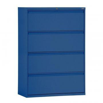 Sandusky 800 Series 4 Drawer Lateral File Blue Color