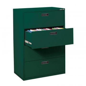 Sandusky 400 Series 4 Drawer Lateral File Forest Green Color