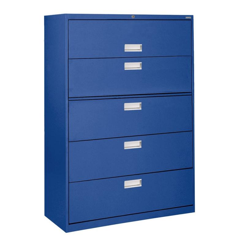 Sandusky 600 Series 5 Drawer Lateral File Blue Color