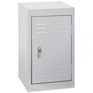 "Sandusky 15"" L x 15"" D x 24"" H Welded Steel Locker in Dove Gray"
