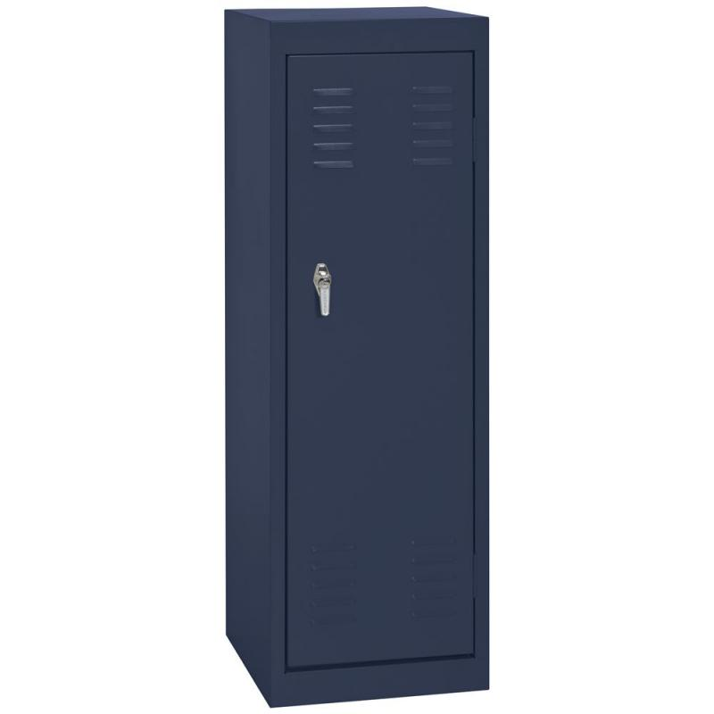 "Sandusky 15"" L x 15"" D x 48"" H Welded Steel Locker in Navy Blue"