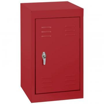"Sandusky 15"" L x 15"" D x 24"" H Welded Steel Locker in Fire Engine Red"