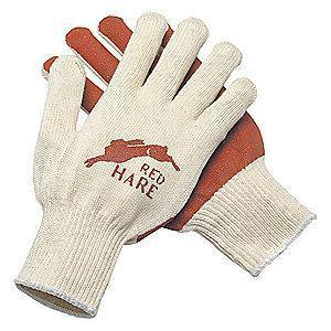 MCR 10 Gauge Flat Nitrile Coated Gloves, L, Natural/Red
