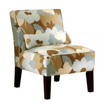 Skyline Armless Chair In Esprit Seaglass