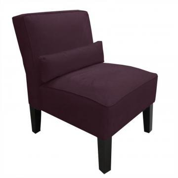 Skyline Armless Chair In Premier Microsuede Purple