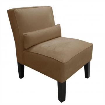 Skyline Armless Chair In Premier Microsuede Khaki