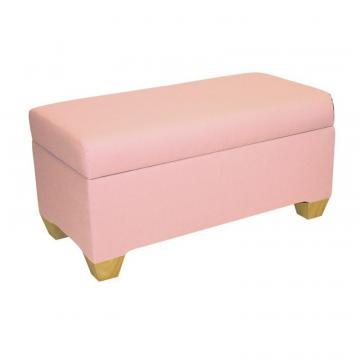 Skyline Kids Storage Bench In Duck Light Pink