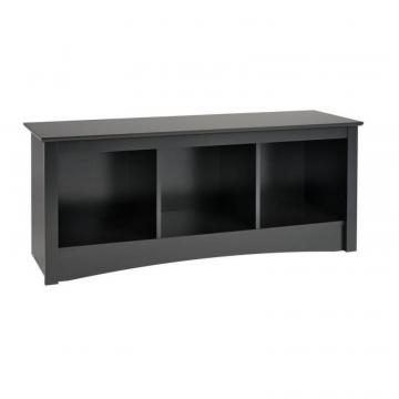 Prepac Black Cubbie Bench