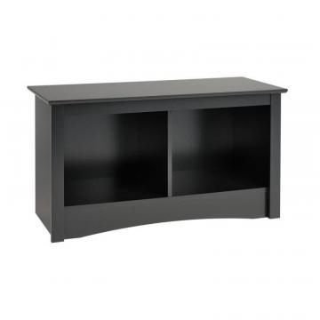 Prepac Black Twin Cubbie Bench