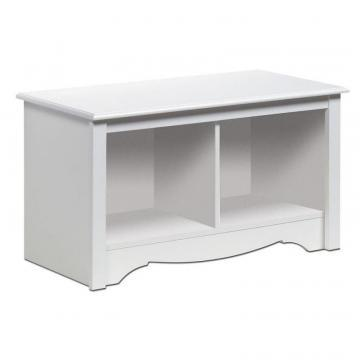 Prepac White Twin Cubbie Bench