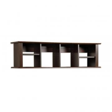 Prepac Espresso Wall Mounted Desk Hutch