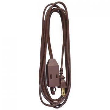 Master Electrician Extension Cord,  16/2 SPT-2 Brown Polarized Cube Tap, 9-Ft.