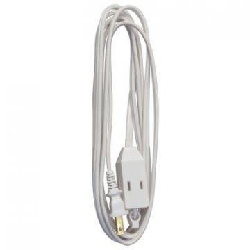 Master Electrician Extension Cord,  16/2 SPT-2 White Polarized Cube Tap, 9-Ft.