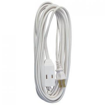 Master Electrician 20-Ft. 16/2 SPT-2 White Vinyl Cube Tap Extension Cord