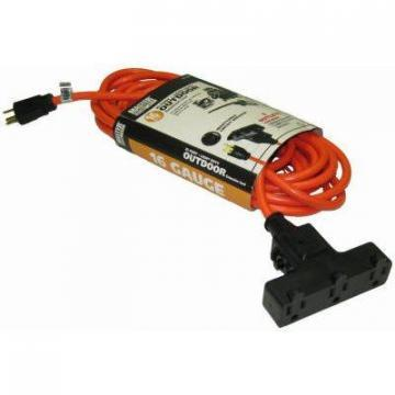 Master 50-Ft. Outdoor Orange Extension Cord