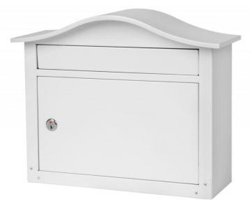 Architectural Mailboxes Saratoga Locking Wall Mount Mailbox White