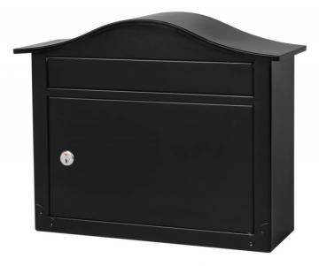 Architectural Mailboxes Saratoga Locking Wall Mount Mailbox Black