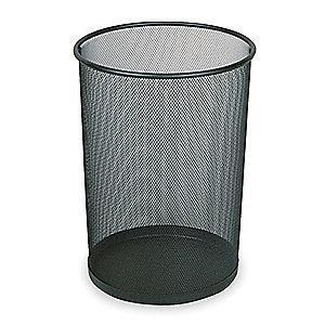 "Rubbermaid Concept Collection 5 gal. Open Top Decorative Wastebasket, 14""H Black"