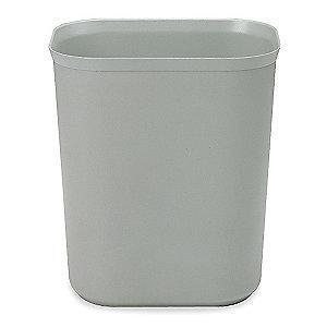 "Rubbermaid 3-1/2 gal. Open Top Utility Wastebasket, 12-1/4""H, Gray"