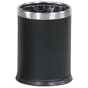 "Rubbermaid Hide-A-Bag 3-1/2 gal. Open Top Decorative Wastebasket, 12-1/2""H Black"