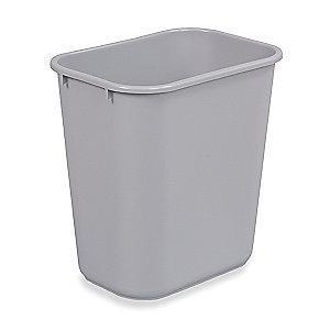 "Rubbermaid 7 gal. Open Top Utility Wastebasket, 15""H, Gray"