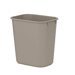 "Rubbermaid 3 gal. Open Top Utility Wastebasket, 12-1/8""H, Beige"