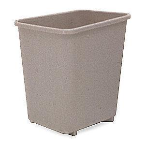 "Rubbermaid 2-1/2 gal. Open Top Utility Wastebasket, 10-1/8""H, Beige"