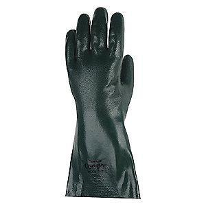 Condor Chemical Resistant Gloves, Medium Thickness, Jersey Lining, Olive Green