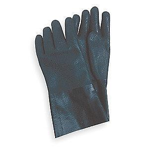 Condor Chemical Resistant Gloves, Jersey Lining, Black, PR 1