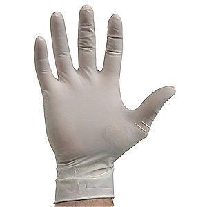 "Condor 9-1/2"" Powder Free Unlined Latex Disposable Gloves, Natural,  L, 100PK"