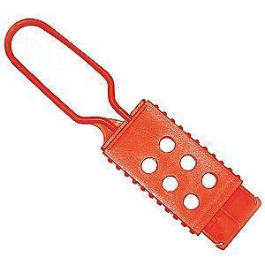 Brady Lockout Hasp, Snap-On Lockout Hasp Style, Nylon