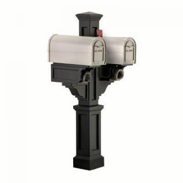 Mayne Rockport Mailbox Post (Black) mailbox post, 2 arms with paper holders