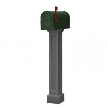 Mayne Bradford Mailbox Post in Granite