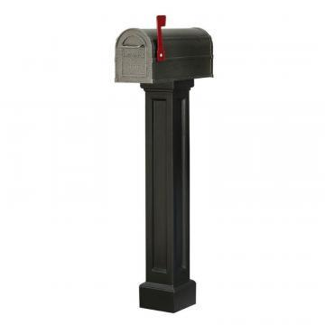 Mayne Bradford Mailbox Post in Black