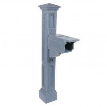Mayne Charleston Plus Mailbox Post in Granite