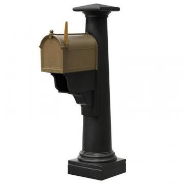 Mayne Statesville Mailbox Post in Black